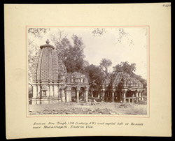 Ancient Siva temple (9th century A.D.) and nuptial hall at Barauli near Bhainsrorgarh